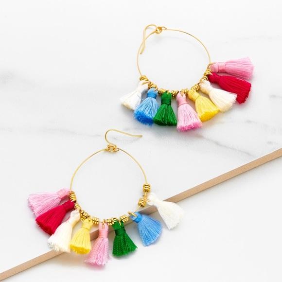 65cbc2082b SHEIN Jewelry | Sale Multicolored Tassel Earrings | Poshmark
